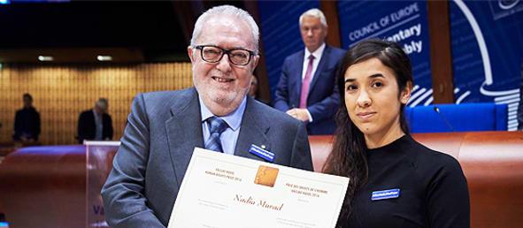 Nadia Murad Václav Havel Human Rights Prize