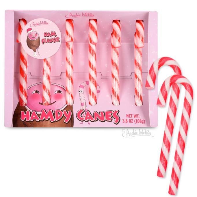Ham candy canes