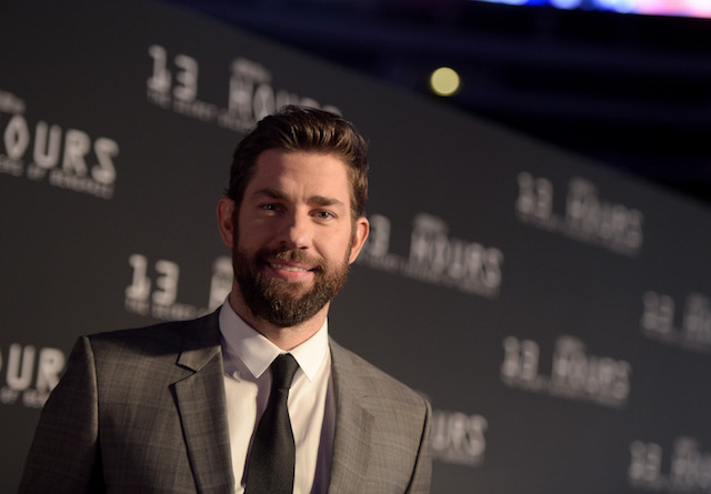 John Krasinski attends the Dallas Premiere of the Paramount Pictures film 13 Hours: The Secret Soldiers of Benghazi at the AT&T Dallas Cowboys Stadium