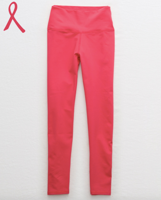 photo of aerie limited-edition breast cancer awareness leggings
