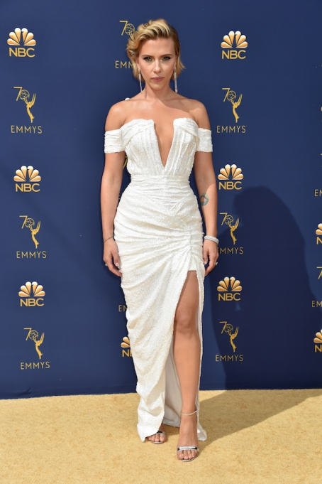Scarlett Johansson attends the 70th Emmy Awards at Microsoft Theater