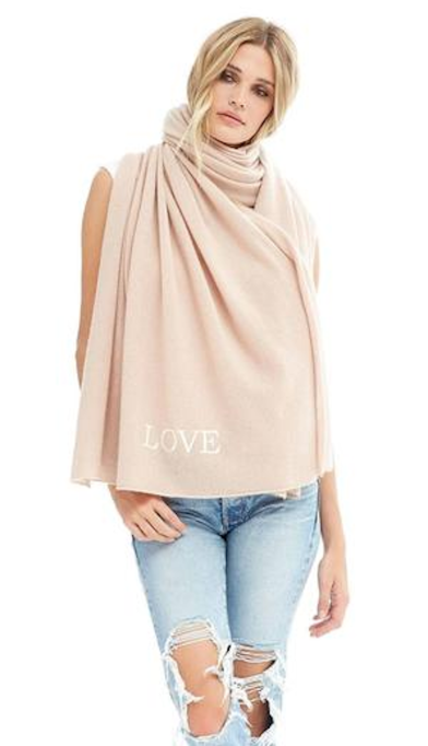 "photo of nakedcashmere ""love"" scarf for breast cancer awareness"