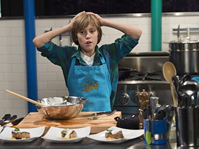 Four contestants on Chopped Junior