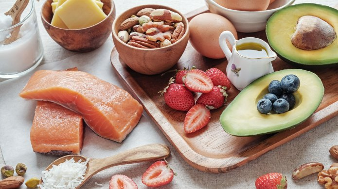 Assorted foods part of the ketogenic