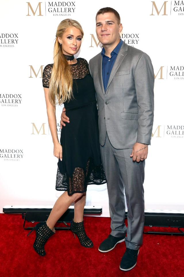 Paris Hilton and Chris Zylka for The VIP Opening of Maddox Gallery LA