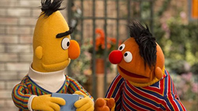 Still of Bert and Ernie from