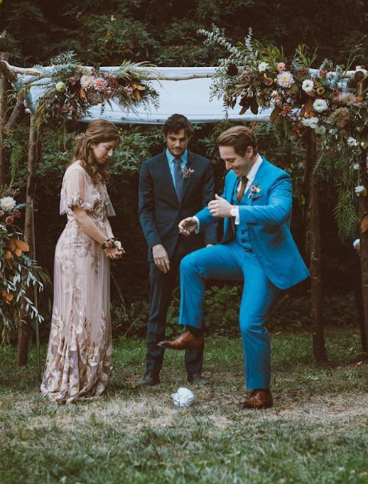 SNL cast member Beck Bennett on his wedding day