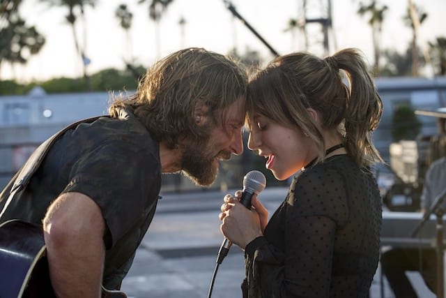 Photo of Bradley Cooper as Jackson and Lady Gaga as Ally in 'A Star Is Born'