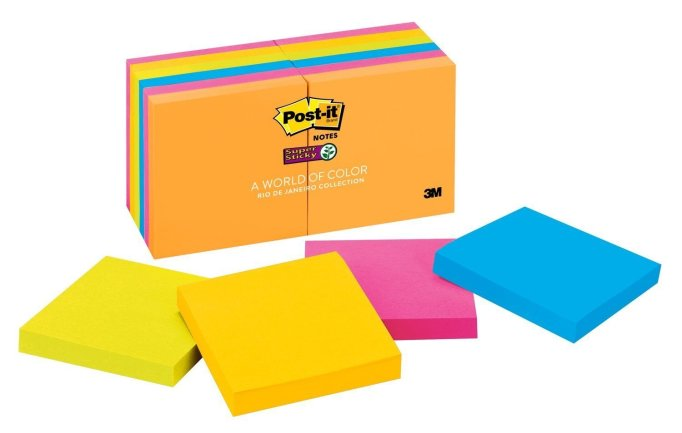 12 Pack Post-it Super Sticky Notes