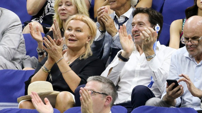 Hugh Jackman and wife attend the 2018 US Open