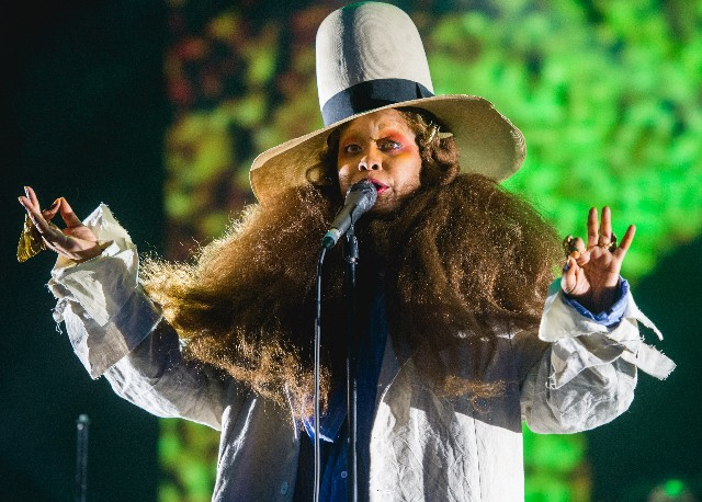 Erykah Badu performs on stage on Day 1 of Field Day at Brockwell Park on June 1, 2018, in London, England