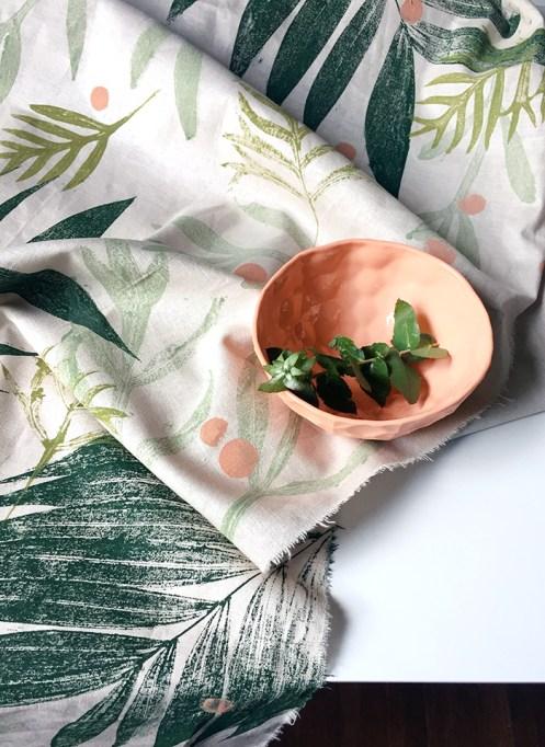Leaf Printed Fabric