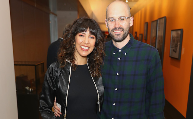 Stephanie Beatriz and Brad Hoss attend the Annenberg Space for Photography's 'Not An Ostrich' Exhibit Opening Party