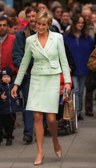 Princess Diana mint green suit