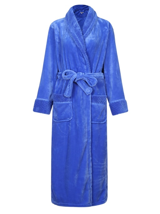 Richie House Women's Warm Fleece Bathrobe