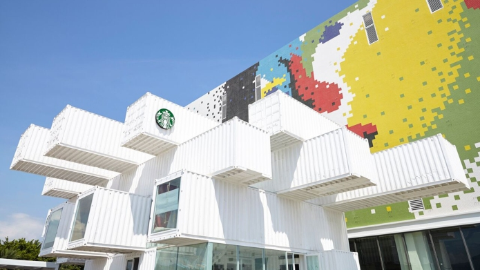 Starbucks Taiwan shipping container store