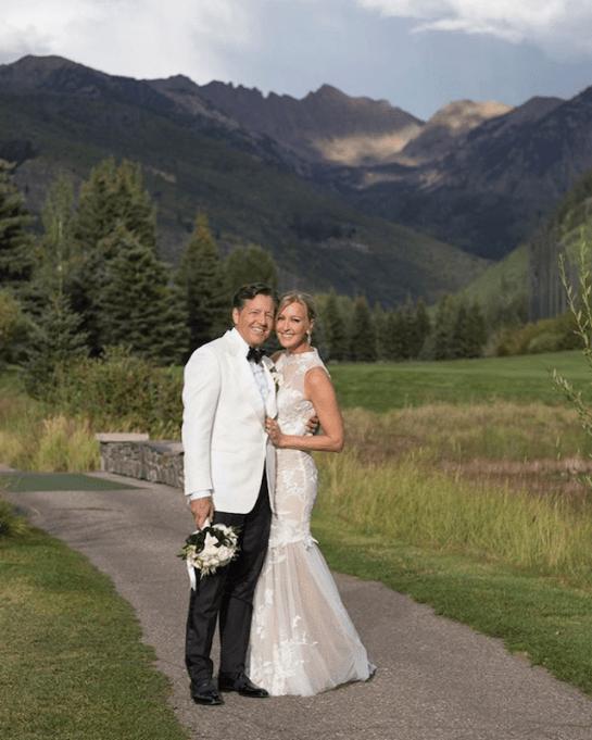Photo of Lara Spencer on her wedding day