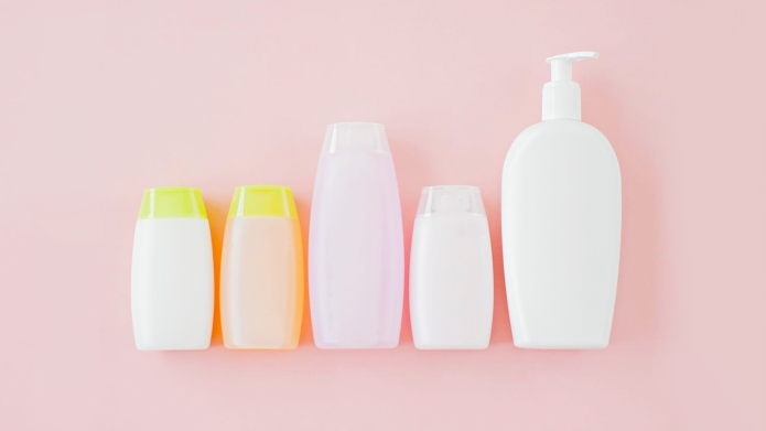 photo of shampoo bottles