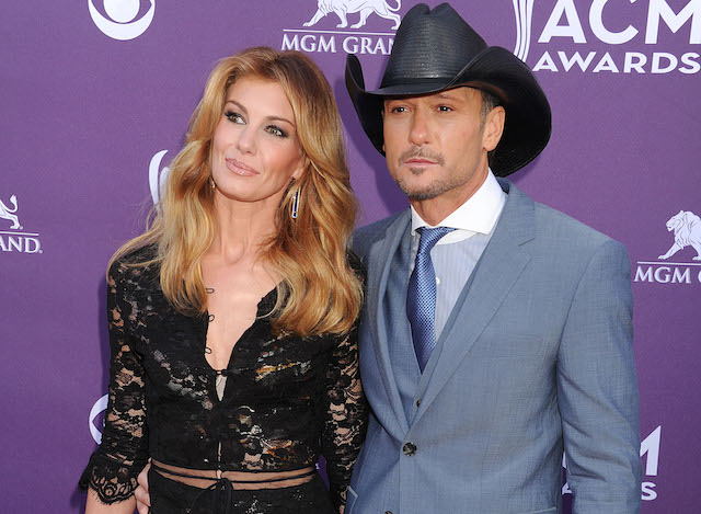 Faith Hill and Tim McGraw arrive at the 48th Annual Academy of Country Music Awards
