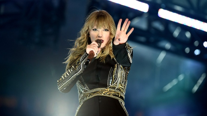 Taylor Swift performs onstage during the