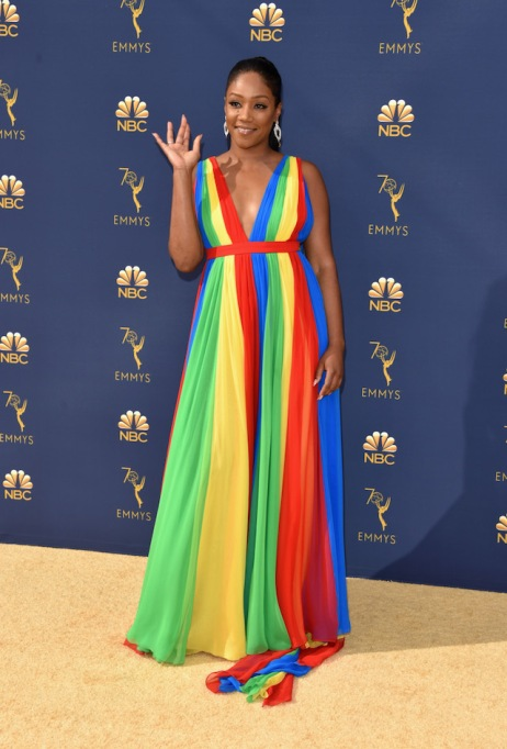 Tiffany Haddish attends the 70th Emmy Awards at Microsoft Theater