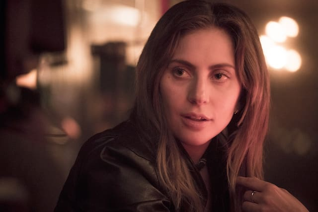 Photo of Lady Gaga as Ally in a bar scene in 'A Star Is Born'