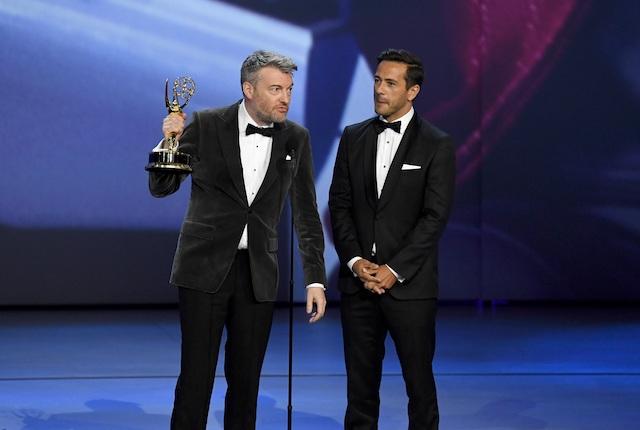 Charlie Brooker & William Bridges at the 2018 Emmys