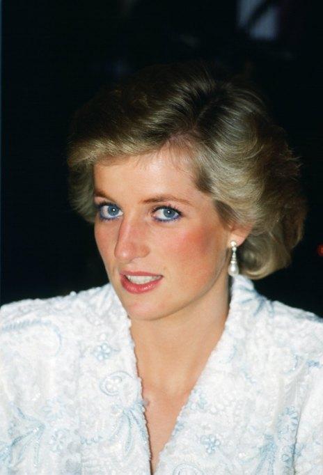 Princess Diana Wearing Blue Eyeliner
