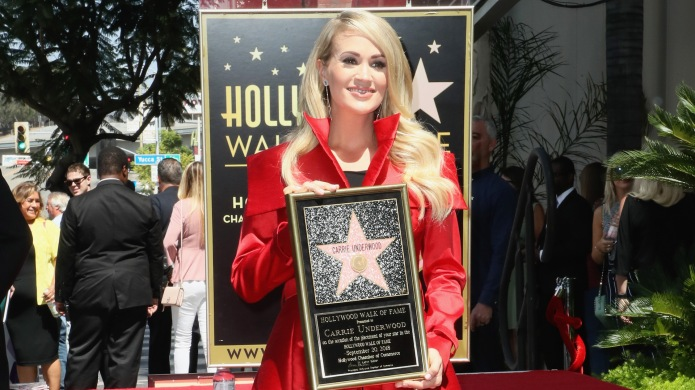 Carrie Underwood receives her star on