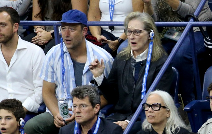 Meryl Streep attends the 2018 US Open