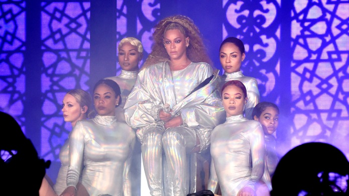 Beyoncé performs onstage during the 'On