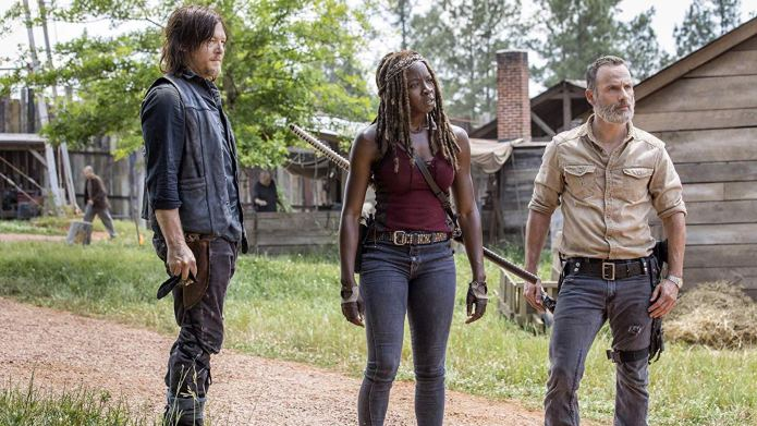 Still of Norman Reedus, Danai Gurira