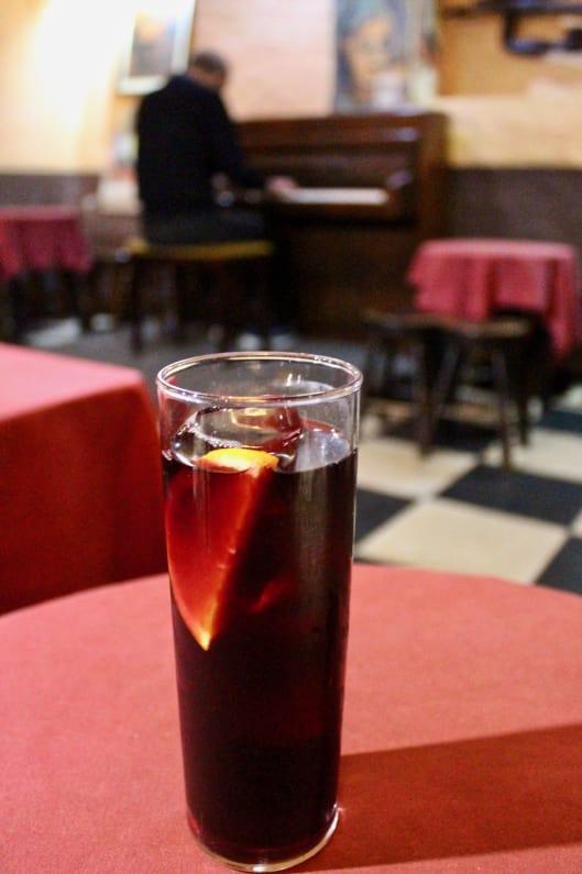 Where to Eat in Madrid: Sangria at Cuevas Sesamo