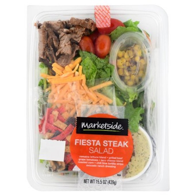 Wamart's marketside fiesta steak salad