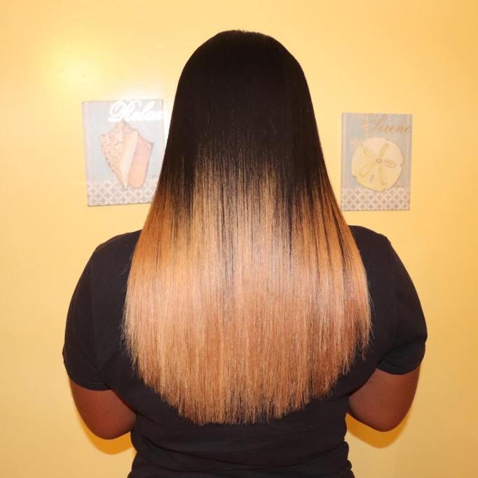 Long Healthy Hair and Edges