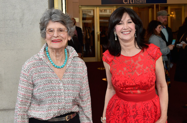 Tony Award-Winning Actress Mary Louise Wilson and Joyce Kulhawik attend the 2016 34th Annual Elliot Norton Awards