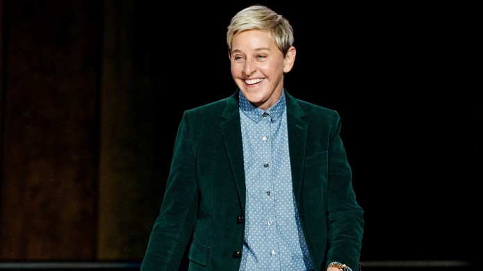 Ellen DeGeneres seen onstage during 'A