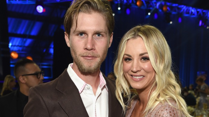 Kaley Cuoco and Karl Cook attend