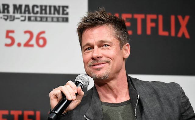 Brad Pitt attends the press conference for 'War Machine' at The Ritz-Carlton, Tokyo on May 22, 2017 in Tokyo, Japan.