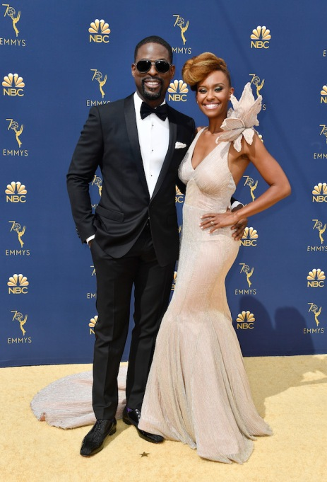 Sterling K. Brown and Ryan Michelle Bathe attend the 70th Emmy Awards at Microsoft Theater