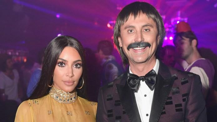 Kim Kardashian and Jonathan Cheban attend