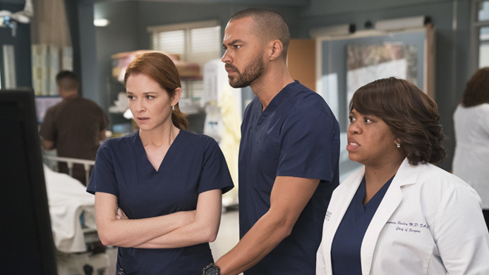 Still of Sarah Drew, Jesse Williams