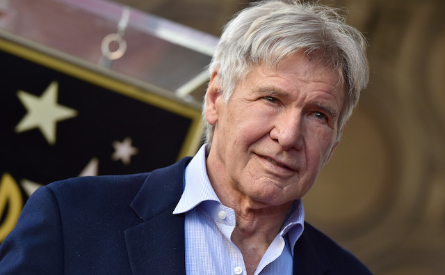 Harrison Ford attends the ceremony honoring Mark Hamill with star on the Hollywood Walk of Fame on March 8, 2018 in Hollywood, California.