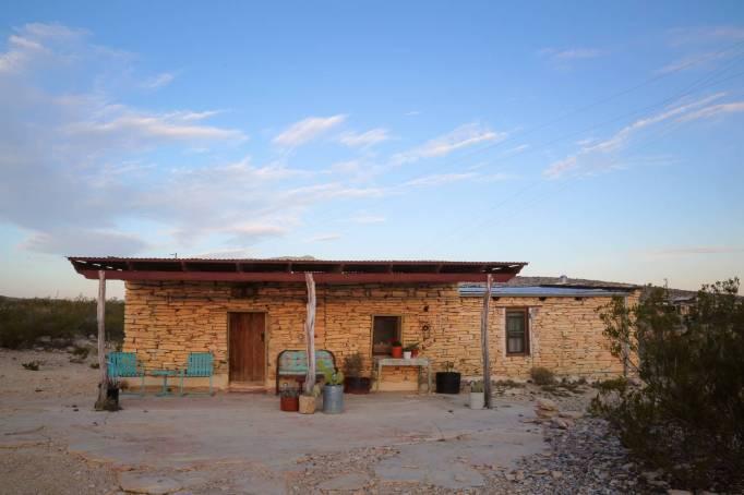 Tertingua Ghost Town Ruin in Terlingua, Texas.