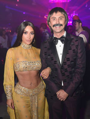 Kim Kardashian and Jonathan Cheban attend Casamigos Halloween Party on October 27, 2017 in Los Angeles, California
