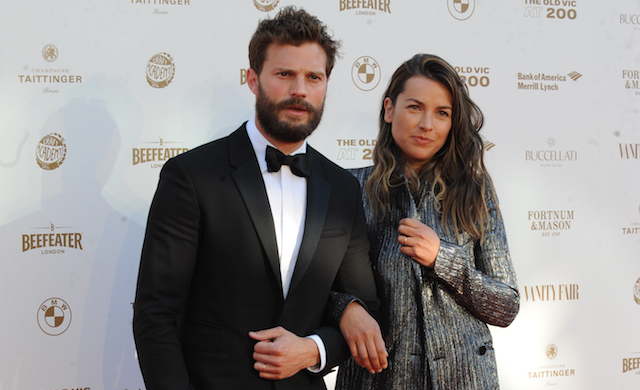 Jamie Dornan arrives on the red carpet for the Old Vic Bicentenary Ball at the Old Vic, London
