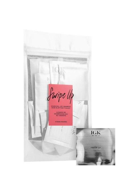 IGK Swipe Up Charcoal Dry Shampoo Hair Blotting Tissues