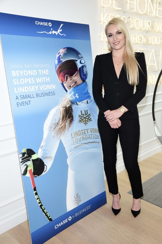 Lindsay Vonn for Chase Ink