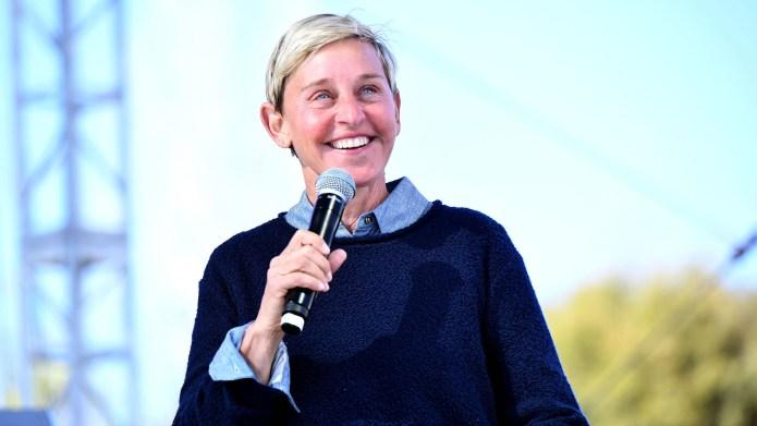 Ellen DeGeneres performs onstage during the