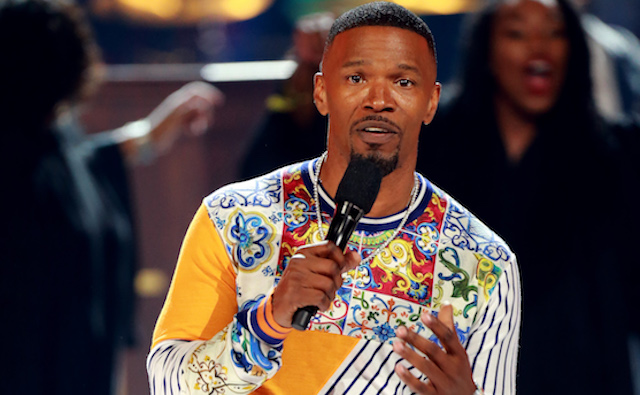 Jamie Foxx speaks onstage at the 2018 BET Awards at Microsoft Theater on June 24, 2018 in Los Angeles, California